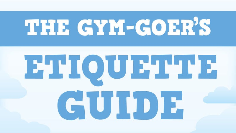 Illustration for article titled This Graphic Is Everything You Need to Know About Gym Etiquette