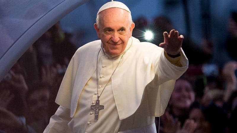 """Illustration for article titled Pope Francis Admits He's Gay Friendly: """"Who Am I to Judge?"""""""