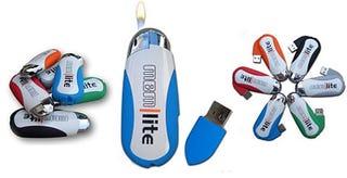 Illustration for article titled Mem|lite USB Lighter Stores Your Data/Lights Up Your Spliff