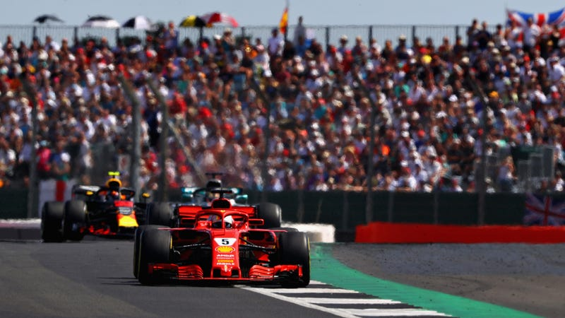 Sebastian Vettel at Silverstone Circuit, which hasn't been a certainty for future F1 calendars, in the British Grand Prix last year.