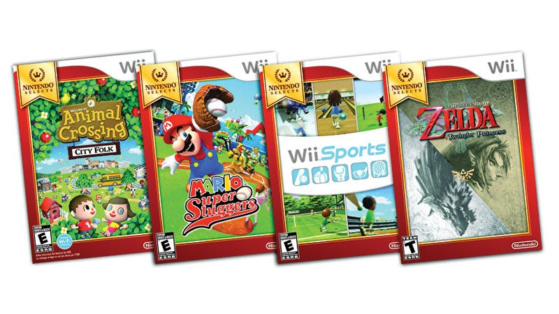 Illustration for article titled 'Nintendo Selects' Box Art, Mario Kart Wii Bundle and More Budget Friendly Wii Details Emerge
