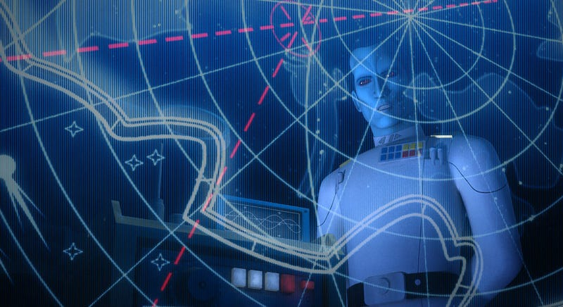 Grand Admiral Thrawn proved his worth on the finale of Star Wars Rebels. All Images: Disney XD