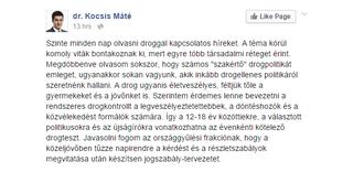 Illustration for article titled Kocsis Máté csomó mindenkit rendszeres drogtesztre küldene