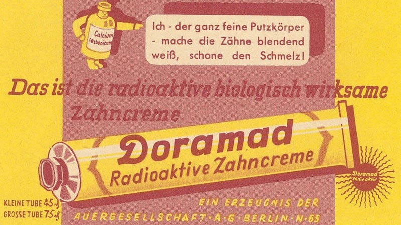 Illustration for article titled Seriously Scary Radioactive Products From The 20th Century