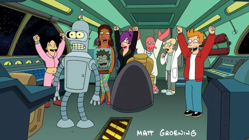 Illustration for article titled Comedy Central renews Futurama for a seventh season, because they're not idiots