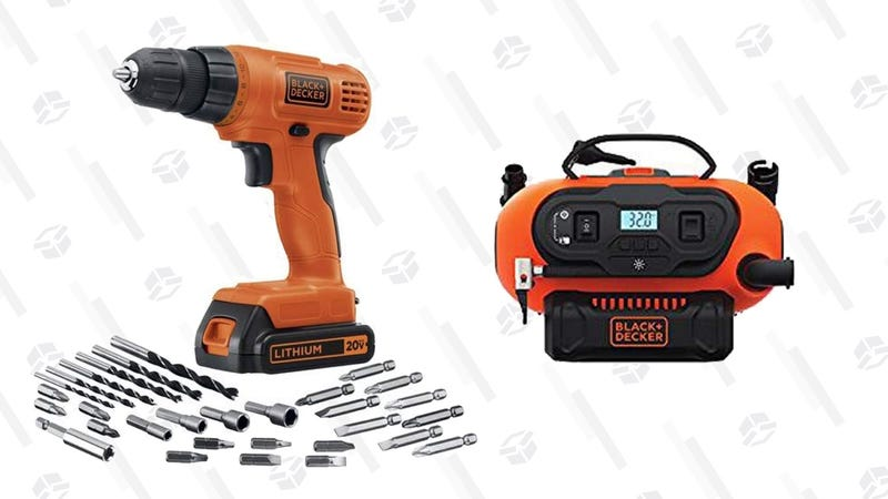 Black & Decker 20V Drill/Driver + Electric Inflator | $84 | Amazon