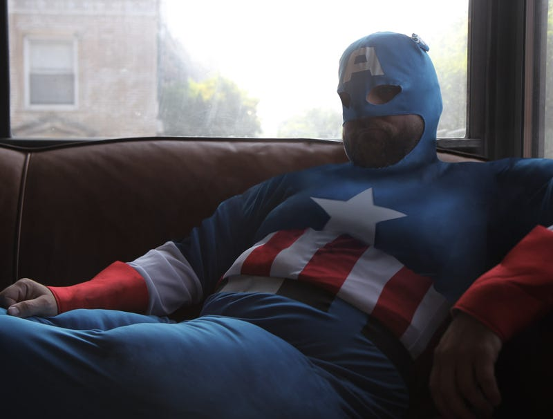 Illustration for article titled 'Captain Actual America' Overweight, Hopelessly In Debt