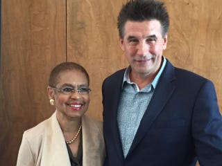 Rep. Eleanor Holmes Norton of the District of Columbia and actor William Baldwin at a luncheon for D.C. statehood July 26, 2016, in Philadelphia, where the Democratic National Convention is taking place.Mary C. Curtis/The Root