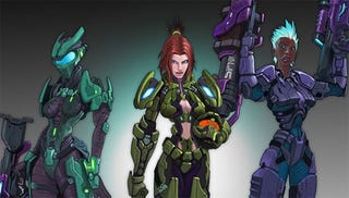 Illustration for article titled Halo MMO Concepts: What Your Sexy Mistress Chief Could Have Looked Like