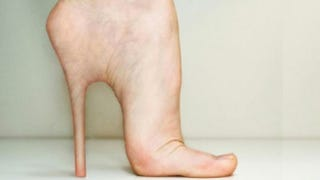 Illustration for article titled Stiletto implants make your feet look just like Barbie's