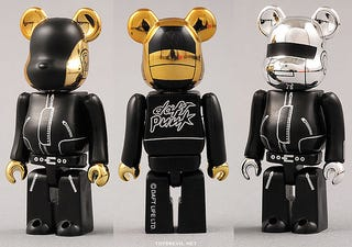 Illustration for article titled Daft Punk Bearbricks: Musicians and Robots and Bears...Oh My!