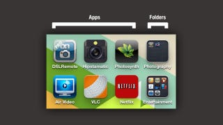 Illustration for article titled Make Your iPhone's Folders Easier to Identify by Pairing Them with Similar Apps