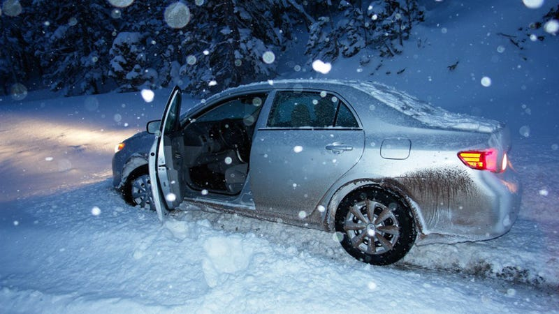 Image result for car in snow toyota