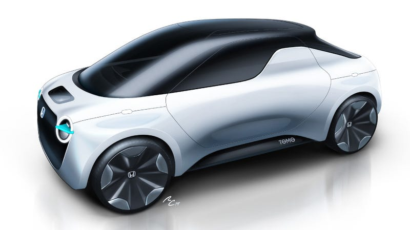 Illustration for article titled The Honda Tomo Concept Is the Miata-Sized Electric Ute the World Needs