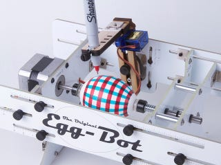 Illustration for article titled Let the Egg-Bot Draw Your Egg a Plaid Jacket