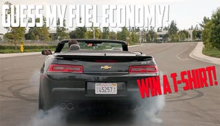 Illustration for article titled Guess my fuel economy, win a Blipshift T-shirt (ZL1 Edition)