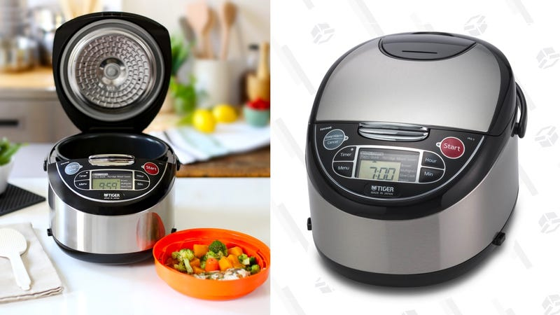 Tiger Rick Cooker with Food Steamer, 5.5 cup | $145 | Rakuten | Use code TIGR24Tiger Rick Cooker with Food Steamer, 10 cup | $165 | Rakuten | Use code TIGR24