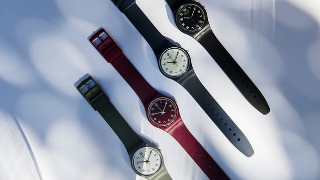Swatch Updates Its  80s-Chic Watch With 2020 Bio-Material