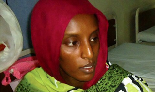 Meriam Ibrahim, whose case has attracted international attentionTwitter screenshot