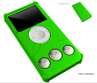 Illustration for article titled iFrogz Audiowrapz for iPod Nano Coming to a WalMart Near You