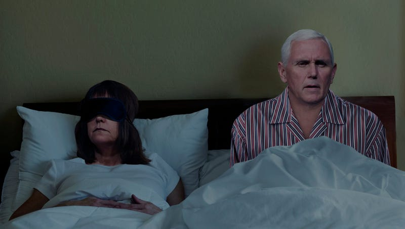 Illustration for article titled 'Oh God, What Happened Last Night?' Says Groggy Mike Pence After Waking Up In Same Bed As Wife