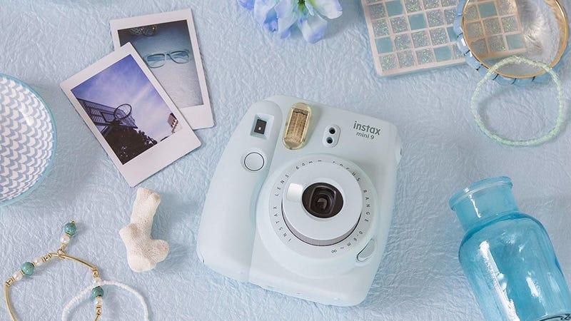 Fujifilm Instax Mini 9 Instant Film Camera | $45 | Amazon | Ice Blue and Flamingo Pink
