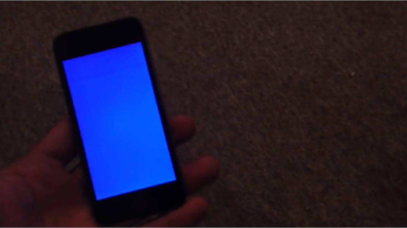 El famoso pantallazo azul también le ocurre al iPhone 5S