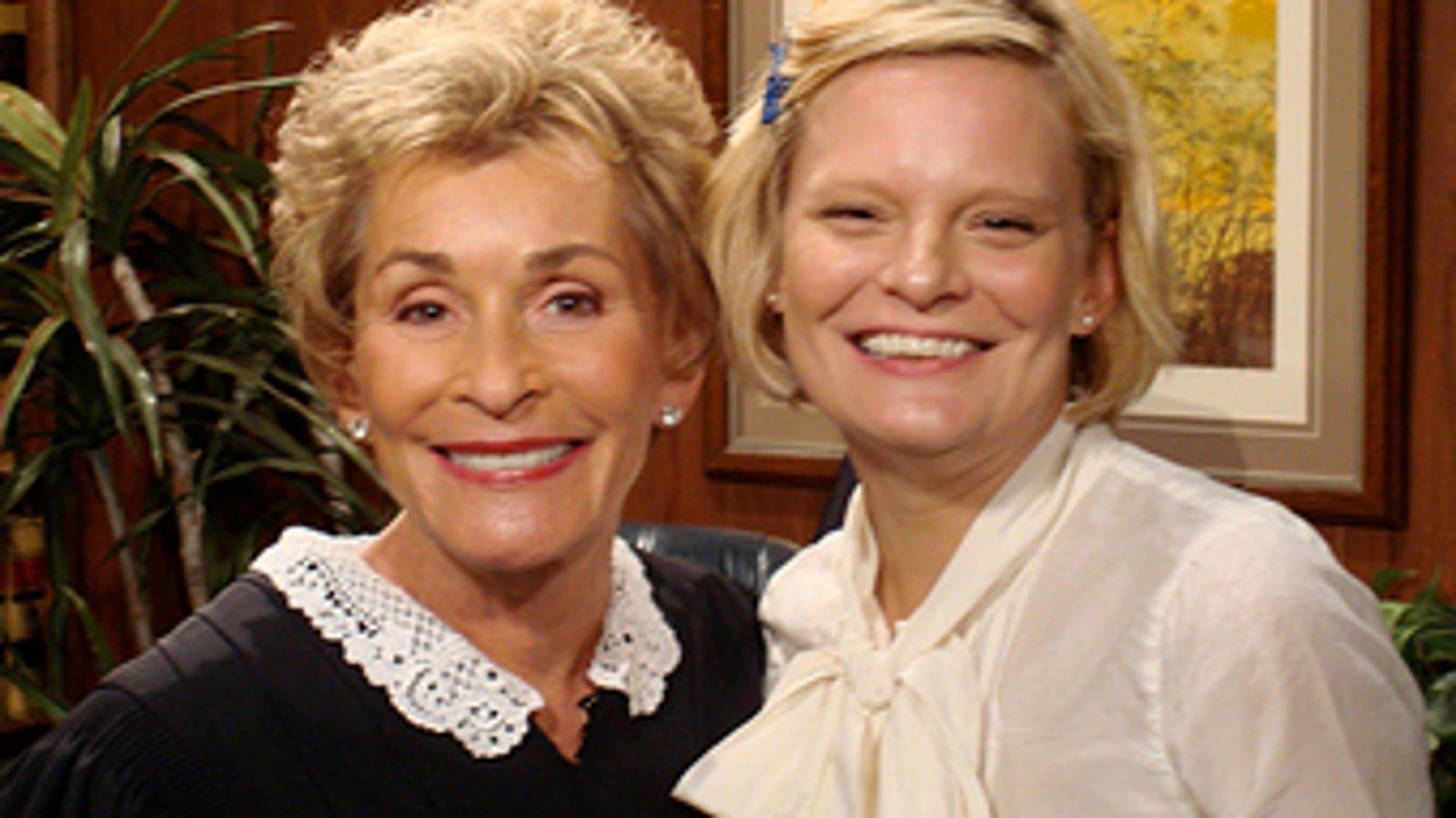 Martha Plimpton Meets Judge Judy