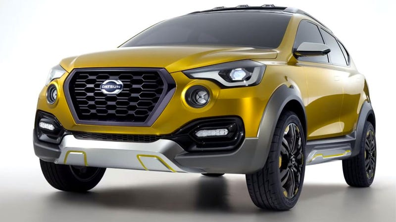 Illustration for article titled The Datsun Go-Cross Concept Is A Damn Optimistic Look At Developing Markets