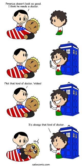 Illustration for article titled Doctor Who is Welsh?