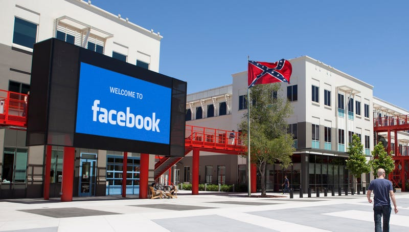 Illustration for article titled Mark Zuckerberg Defends Decision To Fly Confederate Flag At Facebook Headquarters