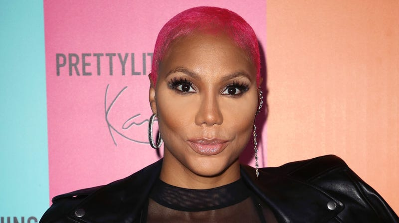 Singer Tamar Braxton attends the PrettyLittleThing x Karl Kani event at Nightingale Plaza on May 22, 2018 in Los Angeles, California.