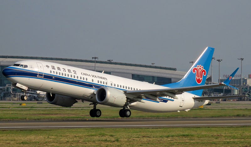 A 737 MAX 8 of China Southern Airlines departs for a flight to Bangkok. In a move that some see as more politics than safety, China was one of the first countries to ban flights by the 737 MAX 8. (N509FZ)
