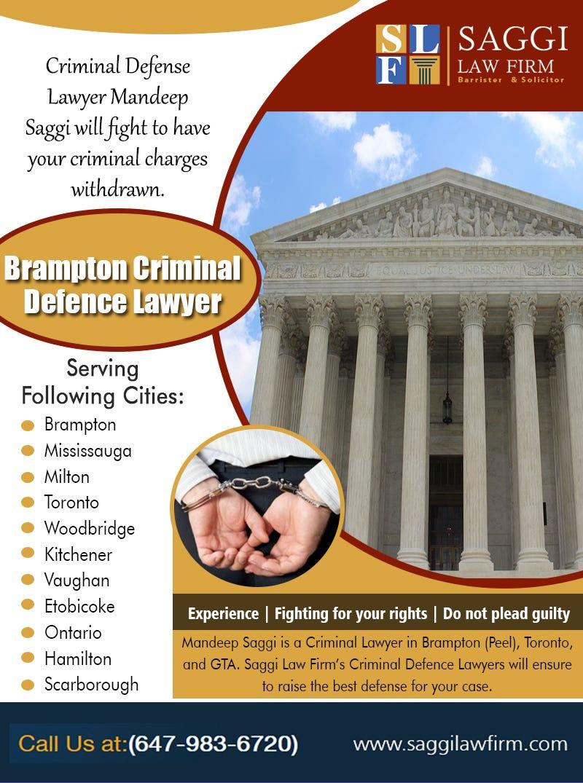 Illustration for article titled Brampton Criminal Defence Lawyer