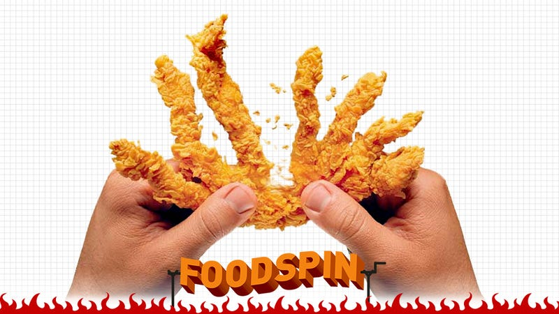 Illustration for article titled Taste Test: Popeyes Rip'n Chick'n. Who Thought This Was A Good Idea?