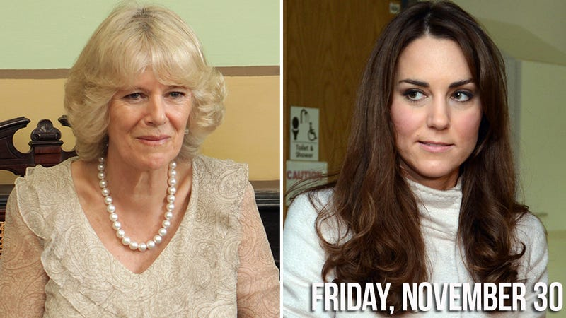 Illustration for article titled Kate Middleton's Uterus Is Making Camilla Parker Bowles an Alcoholic