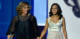 Diahann Carroll and Kerry Washington at the 65th Annual Emmy Awards (Lester Cohen/Getty Images)