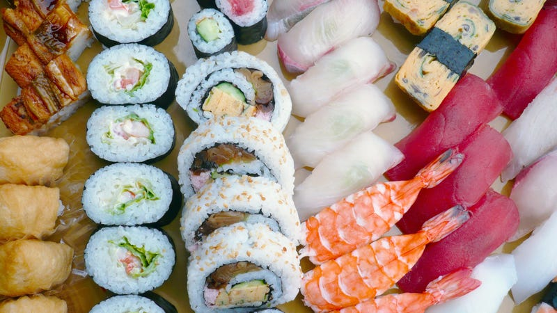 Illustration for article titled Restaurant bans triathlete for testing limits of all-you-can-eat sushi deal