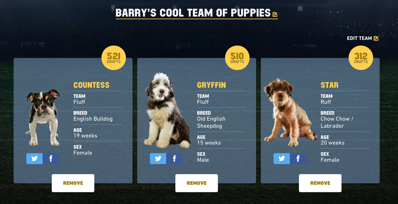 Illustration for article titled Oh Crap, It's Time To Draft Your Fantasy Puppy Bowl Team
