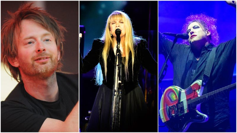 Illustration for article titled Radiohead, Stevie Nicks, and The Cure among Rock and Roll Hall Of Fame's 2019 inductees