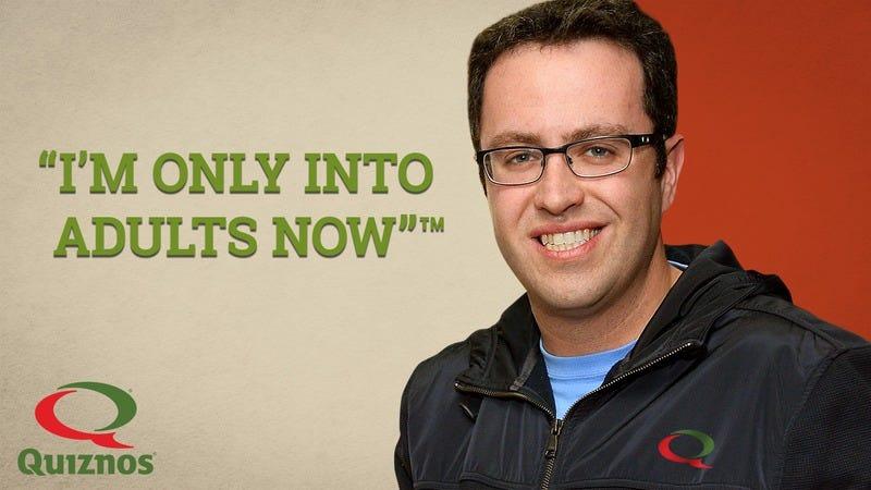 Jared Fogle in a Quizno's ad.