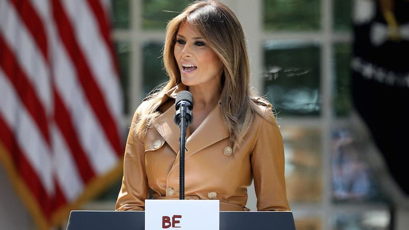 Illustration for article titled Melania Trump Unveils Empty New Initiative, Wants Children to 'Be Best'
