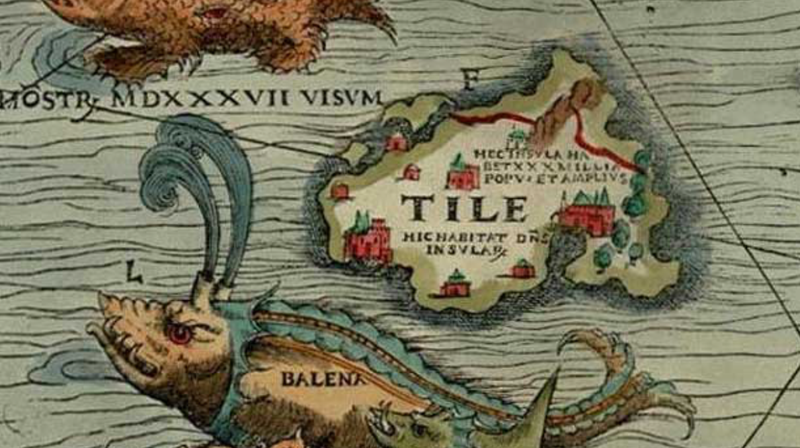 The isle of Thule as it appears on an old map
