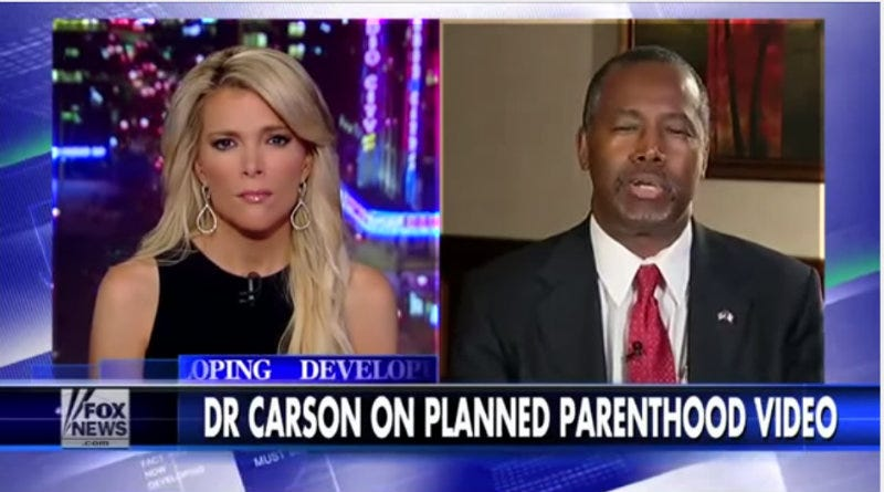Illustration for article titled Loudly Anti-Abortion Ben Carson Used Fetal Tissue in Medical Research