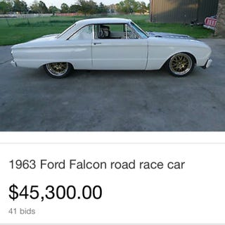 Illustration for article titled Aaron Kaufman's Falcon Race Car is Up For Bid on eBay.