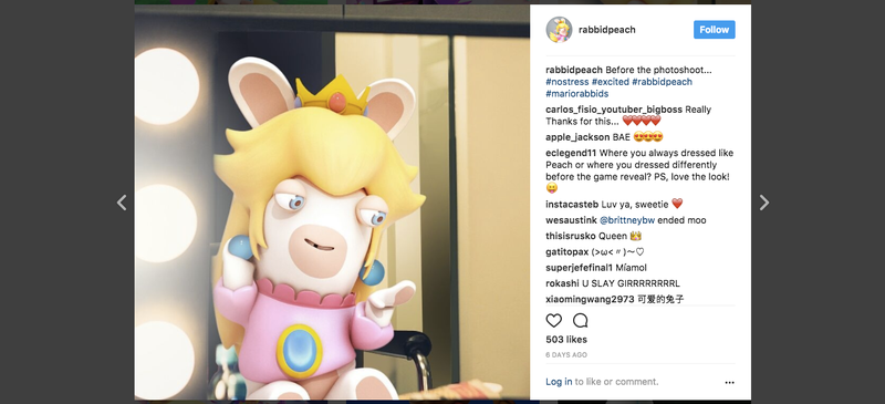 Illustration for article titled Rabbid Peach Has An Instagram Now, And It's Unsettling