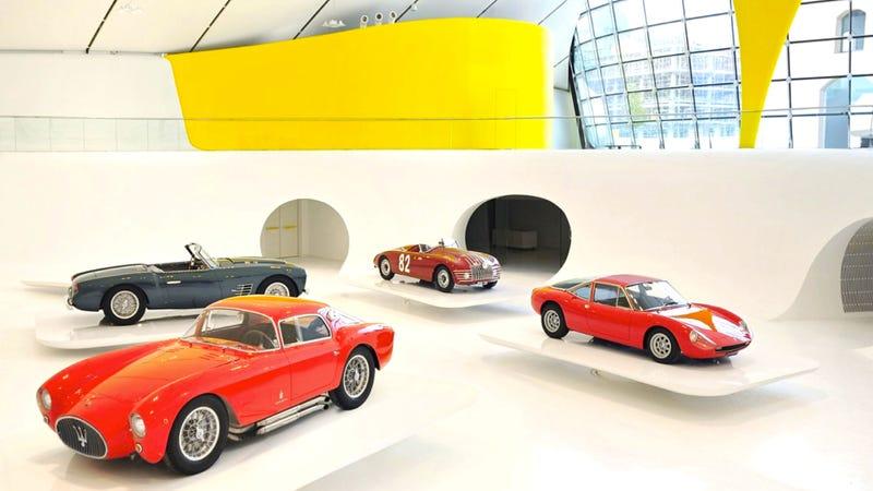 Illustration for article titled Take A Tour Of Ferrari's Stunning $17.6 Million Aluminum-Skinned Museum