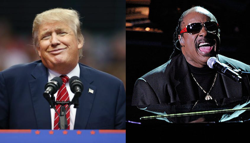 Donald Trump; Stevie WonderGetty Images