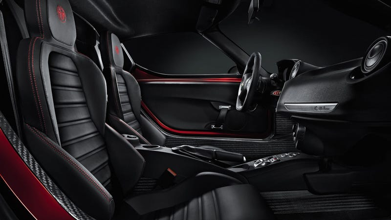 Illustration for article titled This Is The Alfa Romeo 4C's Interior