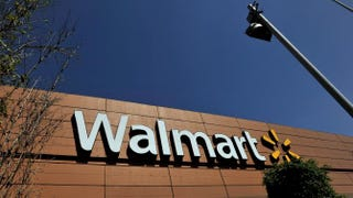 Wal-Mart signage as seen from the store lot in Mexico City April 23, 2012Daniel Aguilar/Getty Images